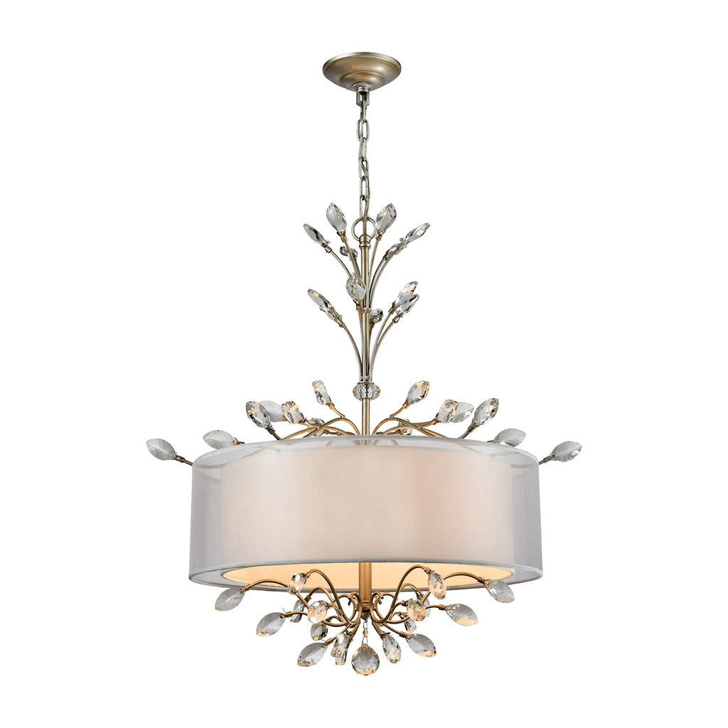 Asbury 4-Light Chandelier in Aged Silver