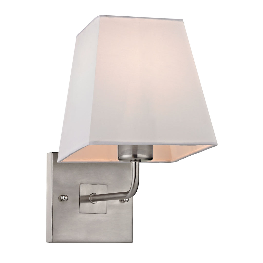 Beverly Collection 1 light WALL sconce in Brushed Nickel