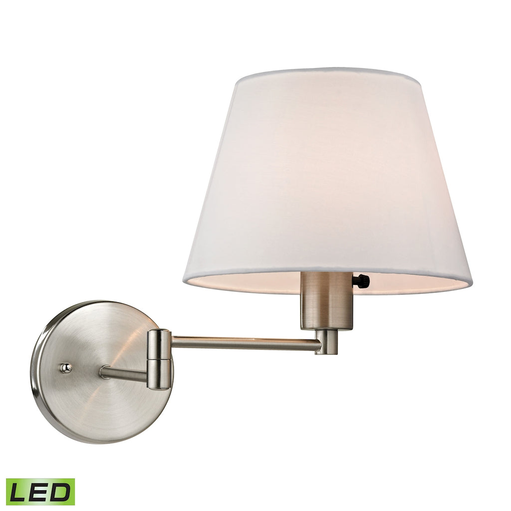 Avenal Collection 1 light swingarm in Brushed Nickel - LED Offering Up To 800 Lumens (60 Watt Equiva