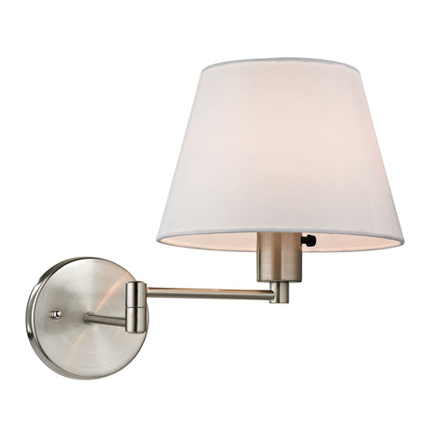 Avenal Collection 1 light swingarm WALLSCONCE in Brushed Nickel