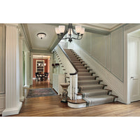 Arlington 5-Light Chandelier in Oil Rubbed Bronze with White Glass
