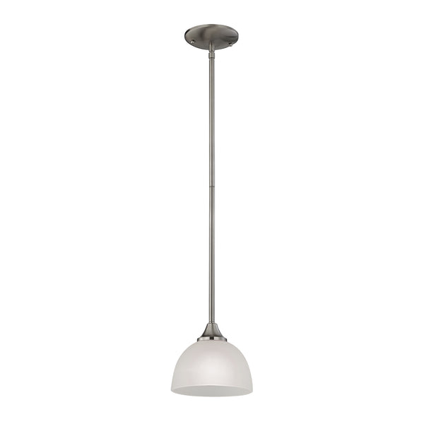 Bristol Lane 1 Light Pendant In Brushed Nickel