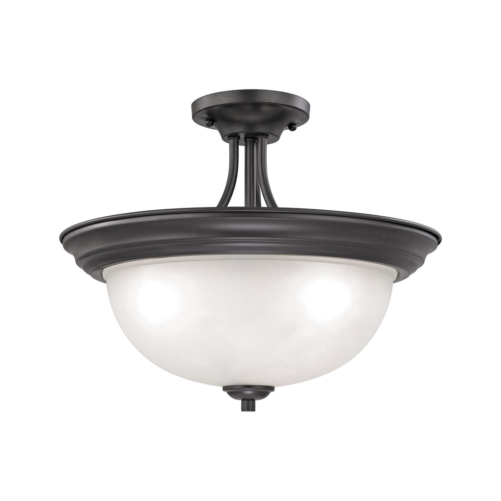 Bristol Lane 3 Light Semi Flush In Oil Rubbed Bronze