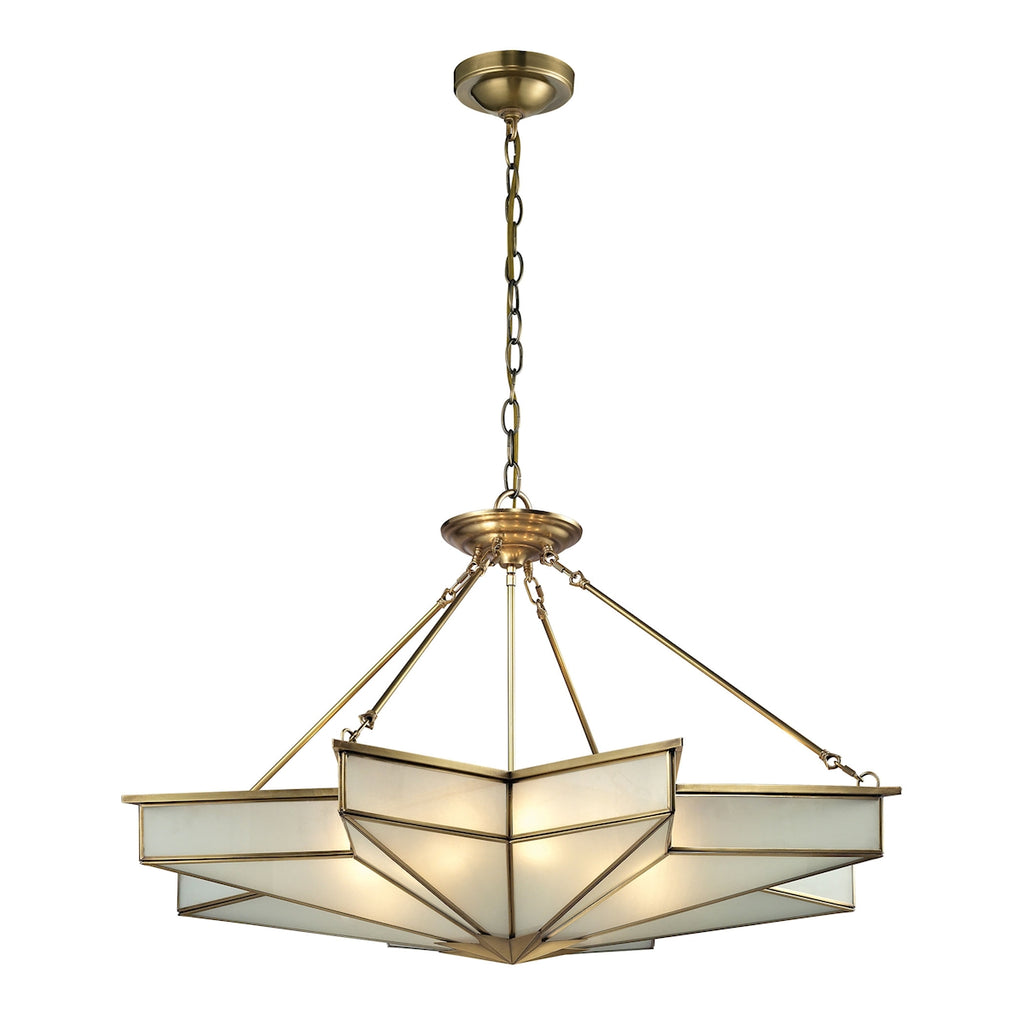 Decostar Collection 8 light pendant in Brushed Brass
