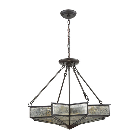 Decostar 4 Light Chandelier in Oil Rubbed Bronze