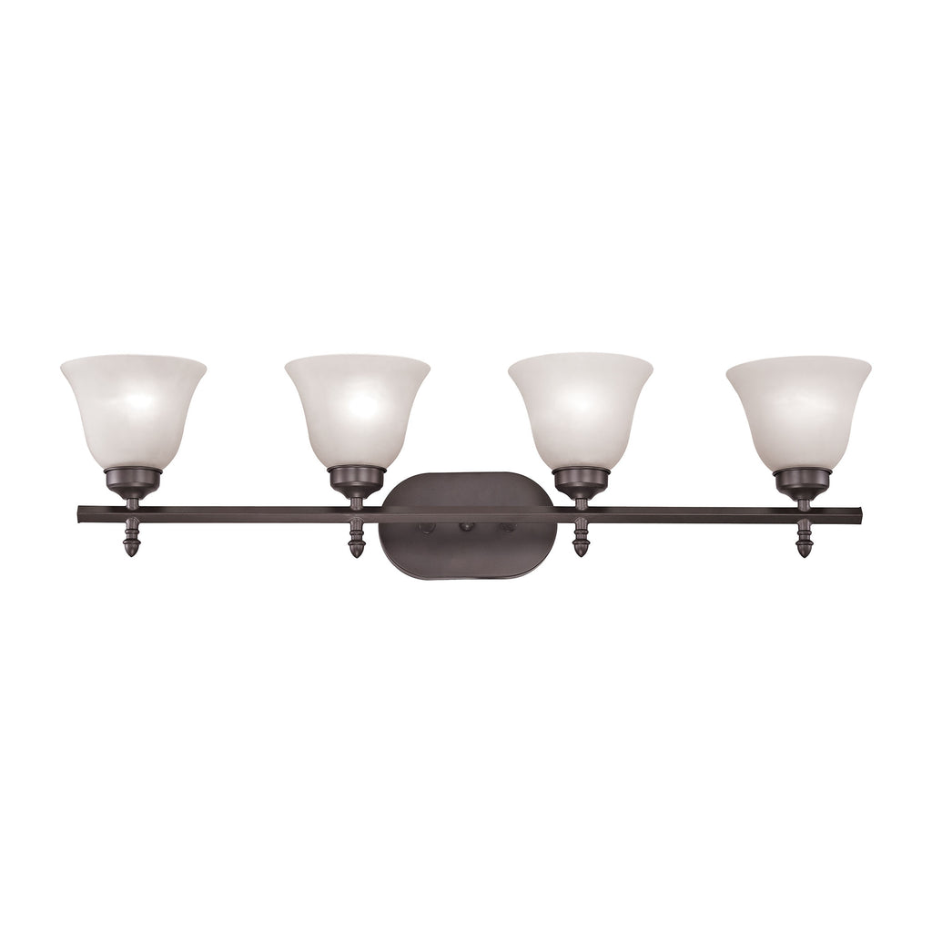 Santa Fe 4 Light Vanity In Oil Rubbed Bronze
