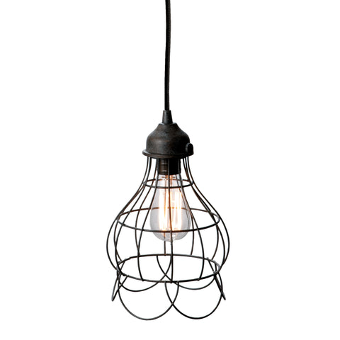Wire Rose 1-Light Mini Pendant Light in Rustic Carob