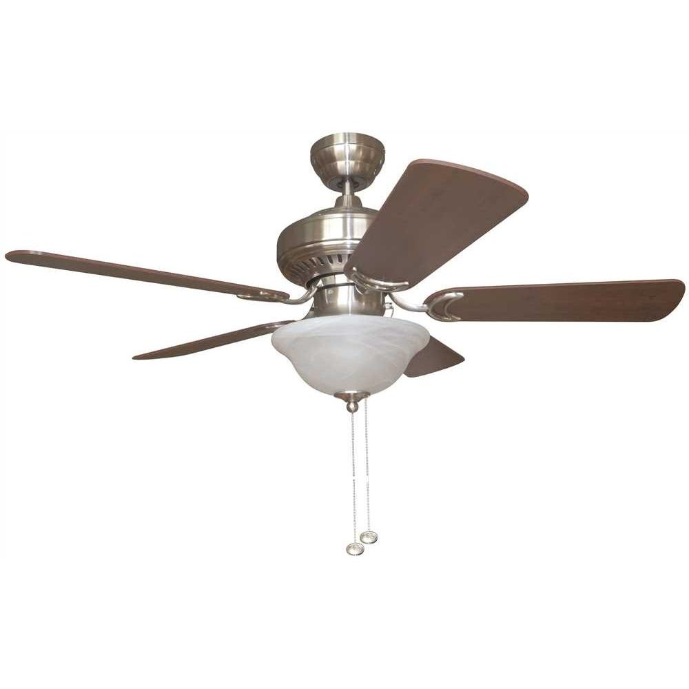 BALA® 42 IN. BRUSHED NICKEL DUAL-MOUNT CEILING FAN WITH BOWL LIGHT KIT*