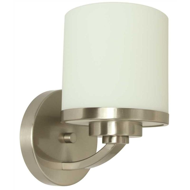 MONUMENT® 1-LIGHT VANITY LIGHTING, BRUSHED NICKEL