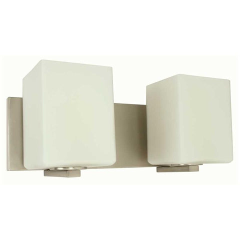 MONUMENT® 2-LIGHT VANITY LIGHTING, BRUSHED NICKEL