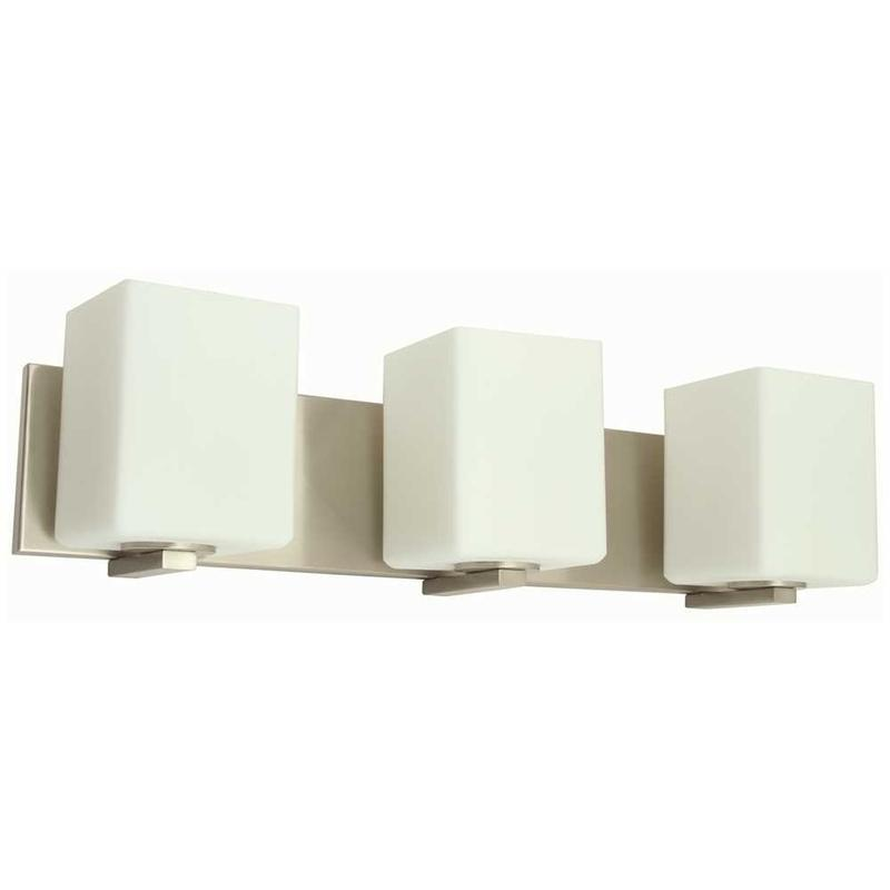 MONUMENT® 3-LIGHT VANITY LIGHTING, BRUSHED NICKEL