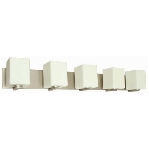 MONUMENT® 5-LIGHT VANITY LIGHTING, BRUSHED NICKEL