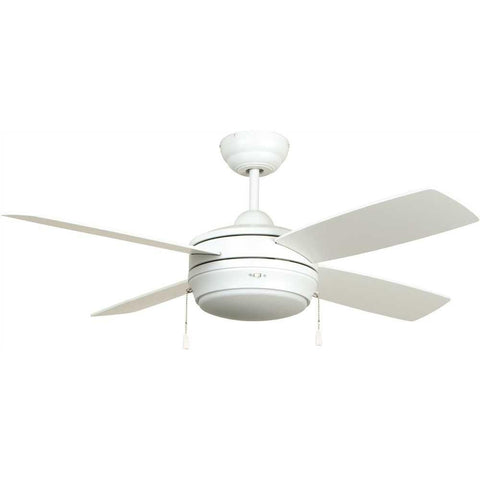 ELLINGTON LAVAL 44 IN. MATTE WHITE TRI-MOUNT CEILING FAN WITH FROSTED DISC LIGHT KIT*