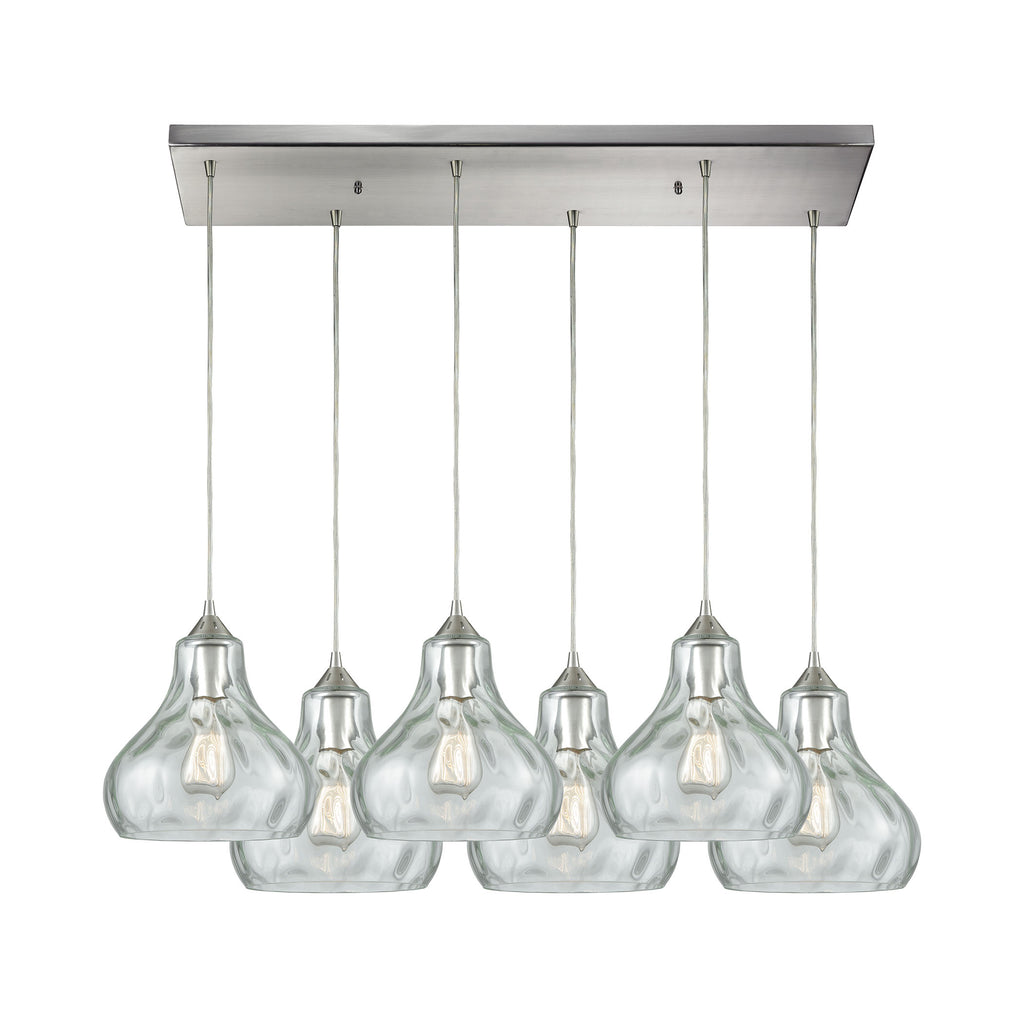 Belmont 6 Pendant Satin Nickel
