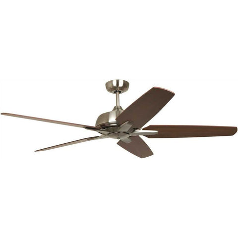 AVALON 56 IN. DUAL MOUNT CEILING FAN, BRUSHED NICKEL WITH BOWL LIGHT