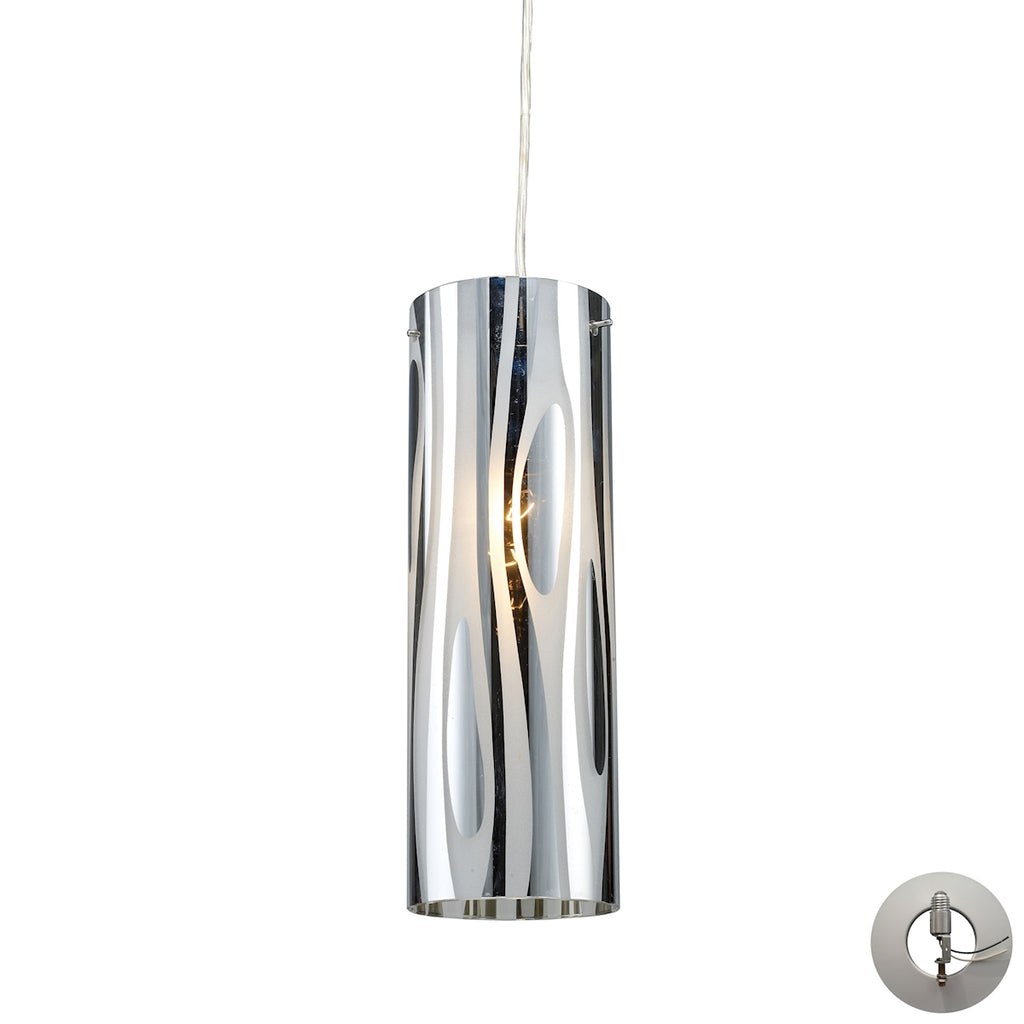 Chromia 1 Light Pendant in Polished Chrome - Includes Adapter Kit