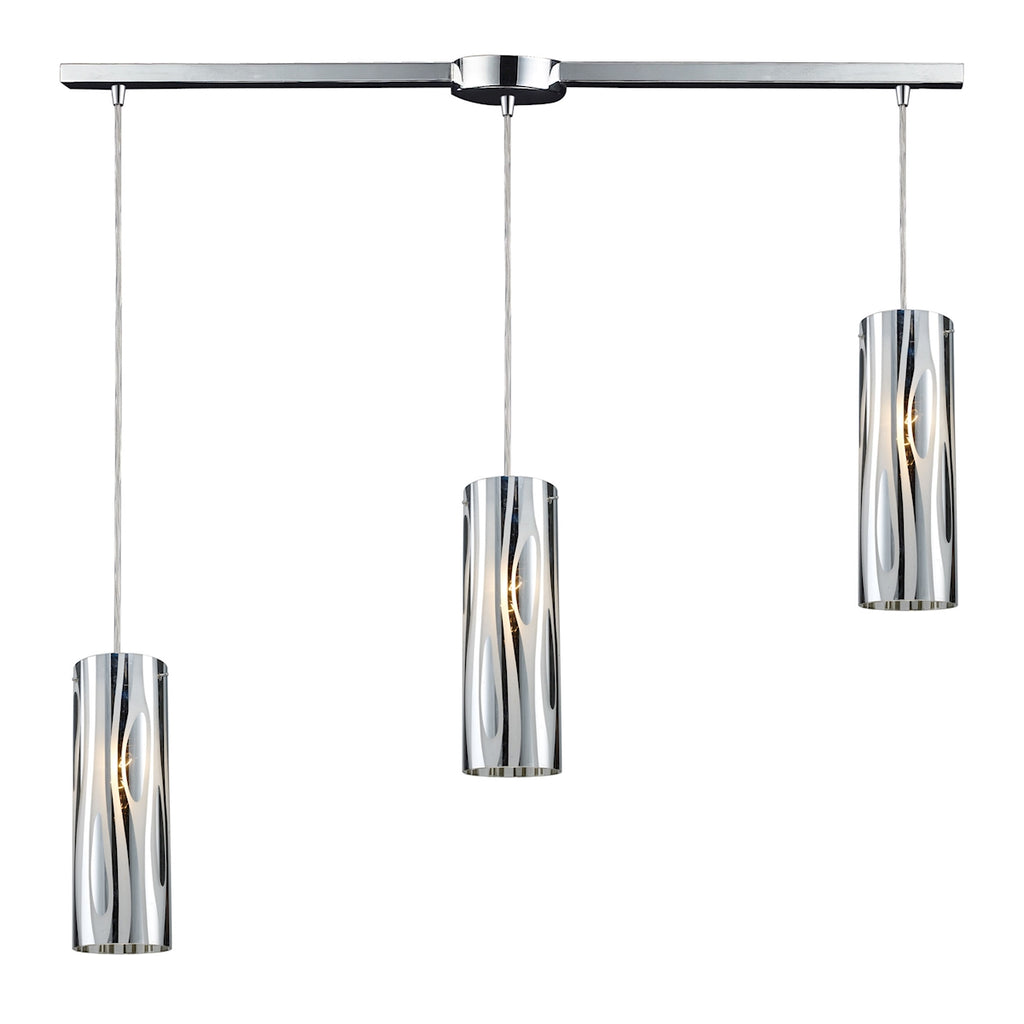 Chromia 3-Light Linear Pendant in Polished Chrome