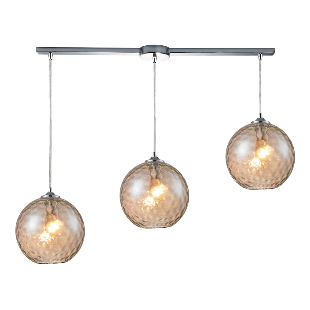 Watersphere 3-Light Pendant in Polished Chrome