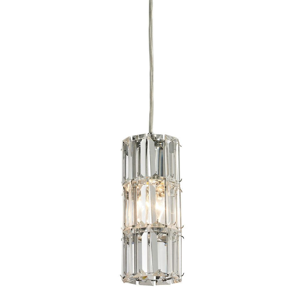 Cynthia Collection 1 light mini pendant in Polished Chrome