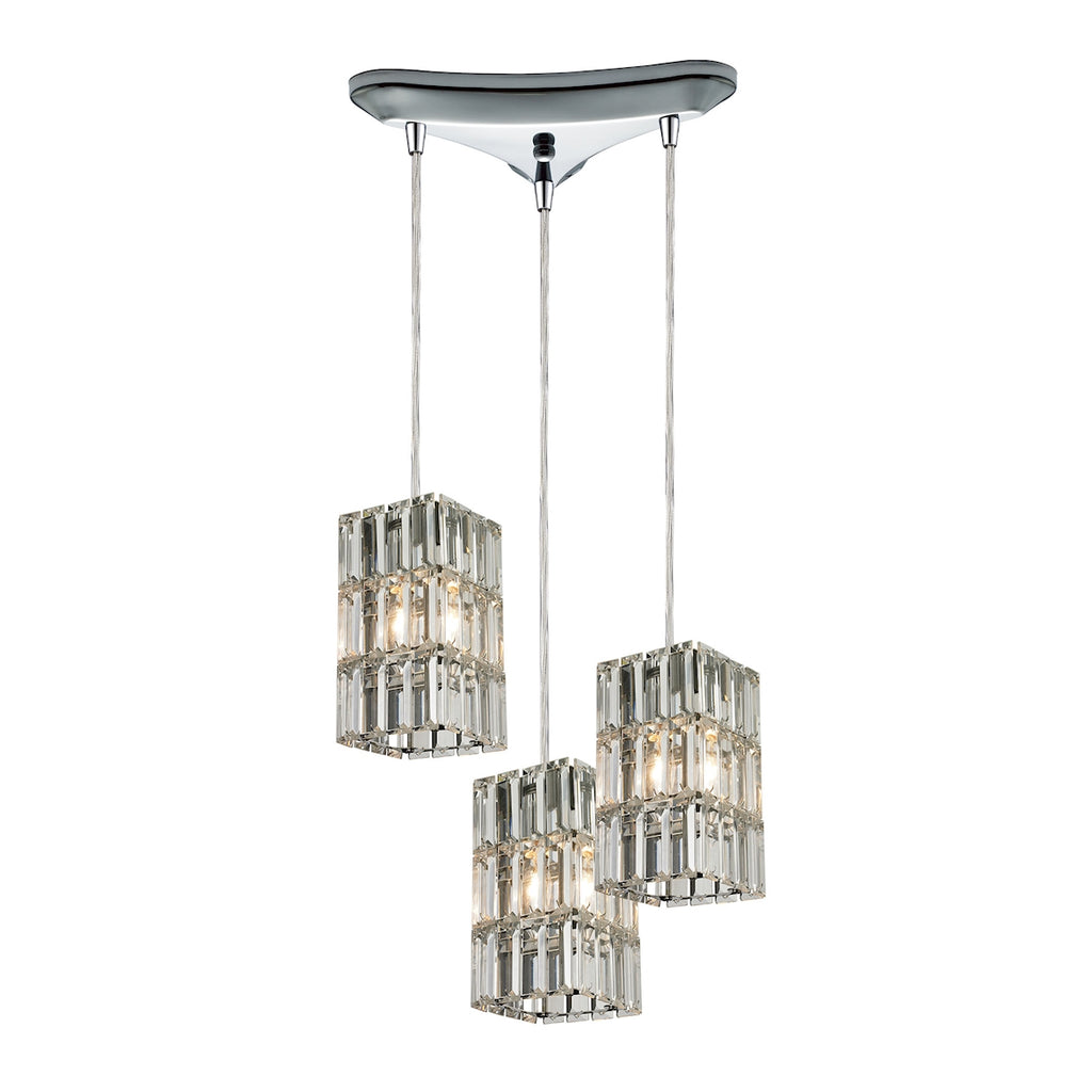 Cynthia Collection 3 light pendant in Polished Chrome