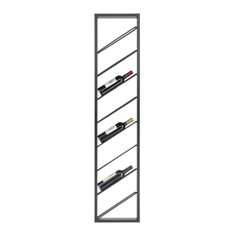 Wavertree Hanging Wine Rack in Black - Angled
