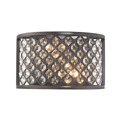 Genevieve 2 Light Wall Sconce in Oil Rubbed Bronze