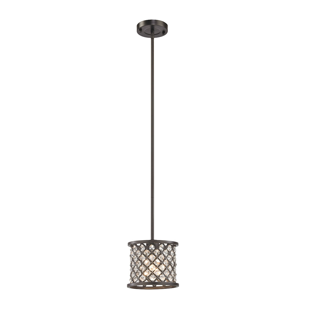 Genevieve 1 Light Pendant in Oil Rubbed Bronze