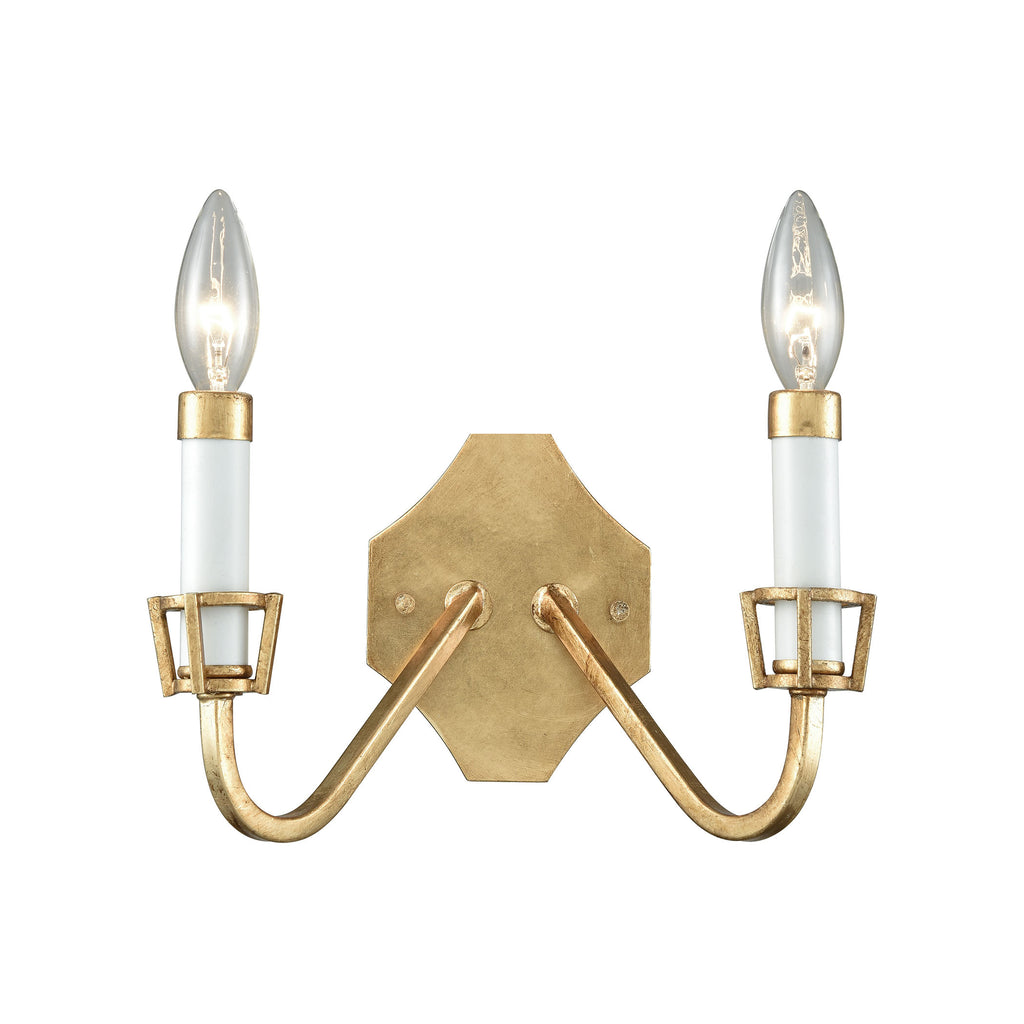 Ceramique 2 Wall Sconce Antique Gold Leaf