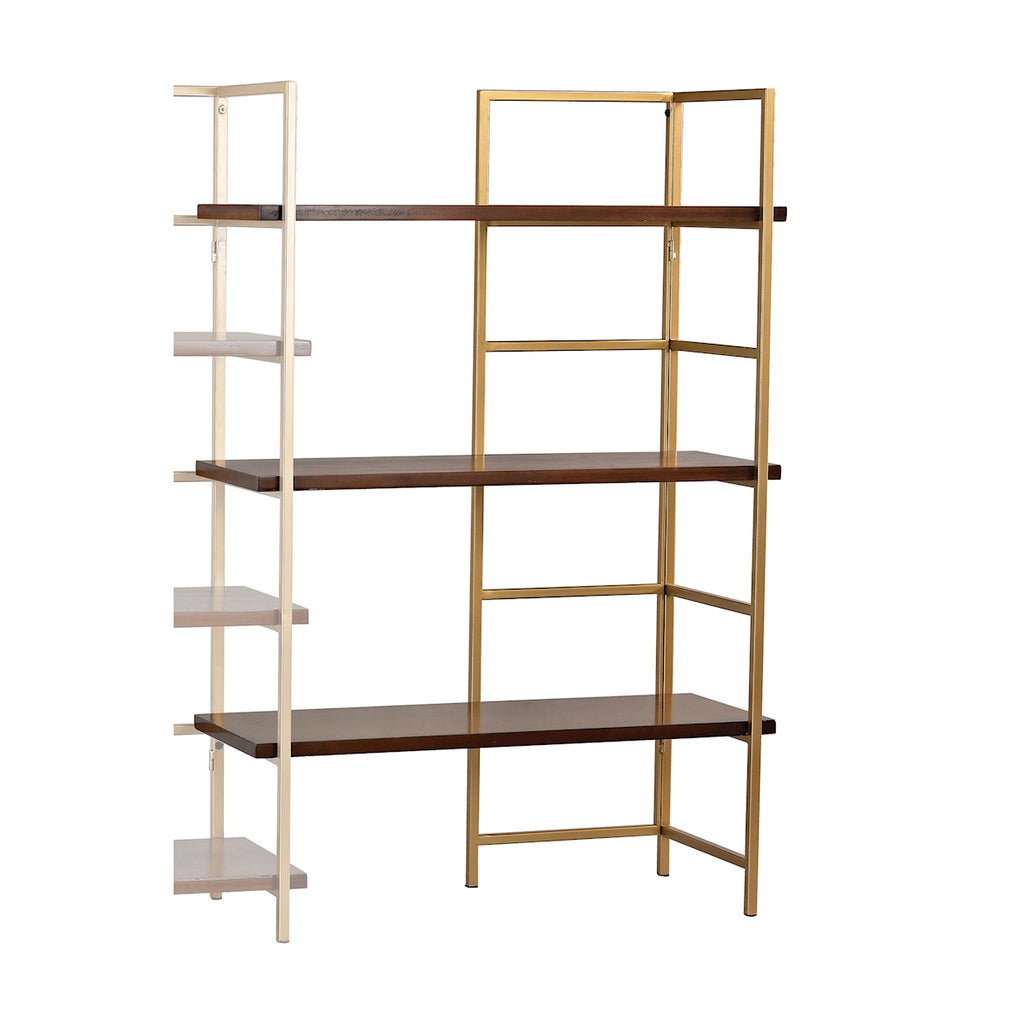 Balart Gold and Walnut Extension for Shelf Unit