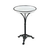 Biloxi White and Black Enamel with Aged Black Metal Accent Table
