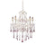 Opulence Rose Crystal Set For 5 Light Chandelier