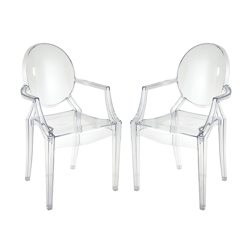 Vanish Clear Acrylic Set of 2 Armchairs