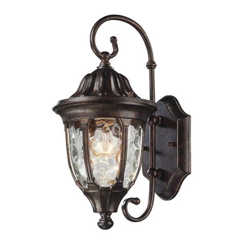 Glendale 1-Light Outdoor Wall Mount in Regal Bronze