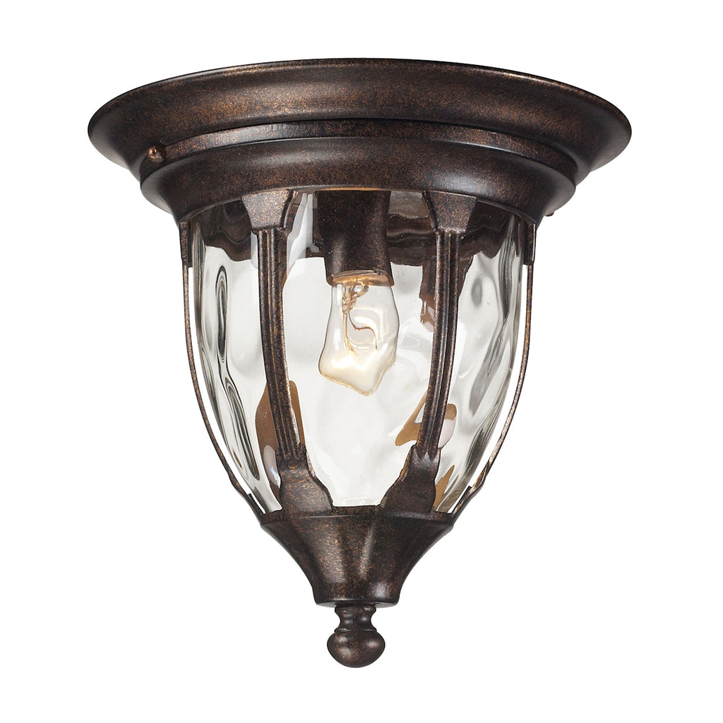 1 light outdoor flush mount in Regal Bronze