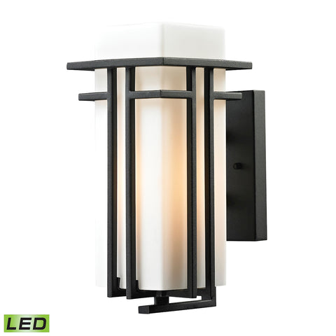 Croftwell Collection 1 light outdoor sconce in Textured Matte Black - LED Offering Up To 800 Lumens