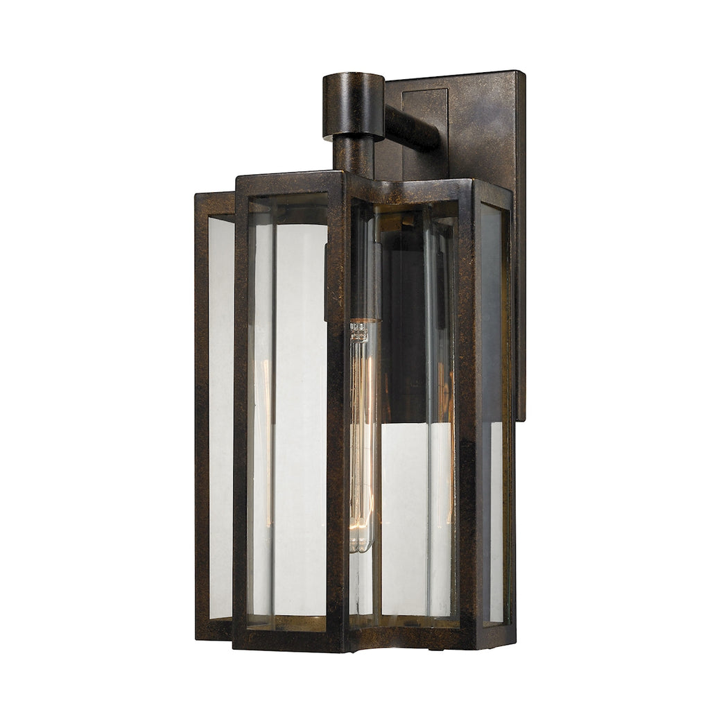 Bianca 1-Light Outdoor Wall Mount in Aged Zinc