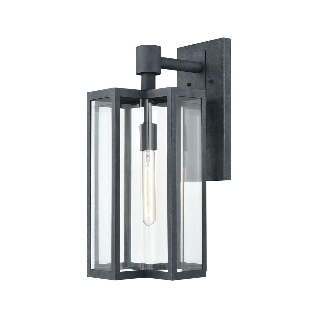 Bianca 1-Light Sconce in Aged Zinc with Clear