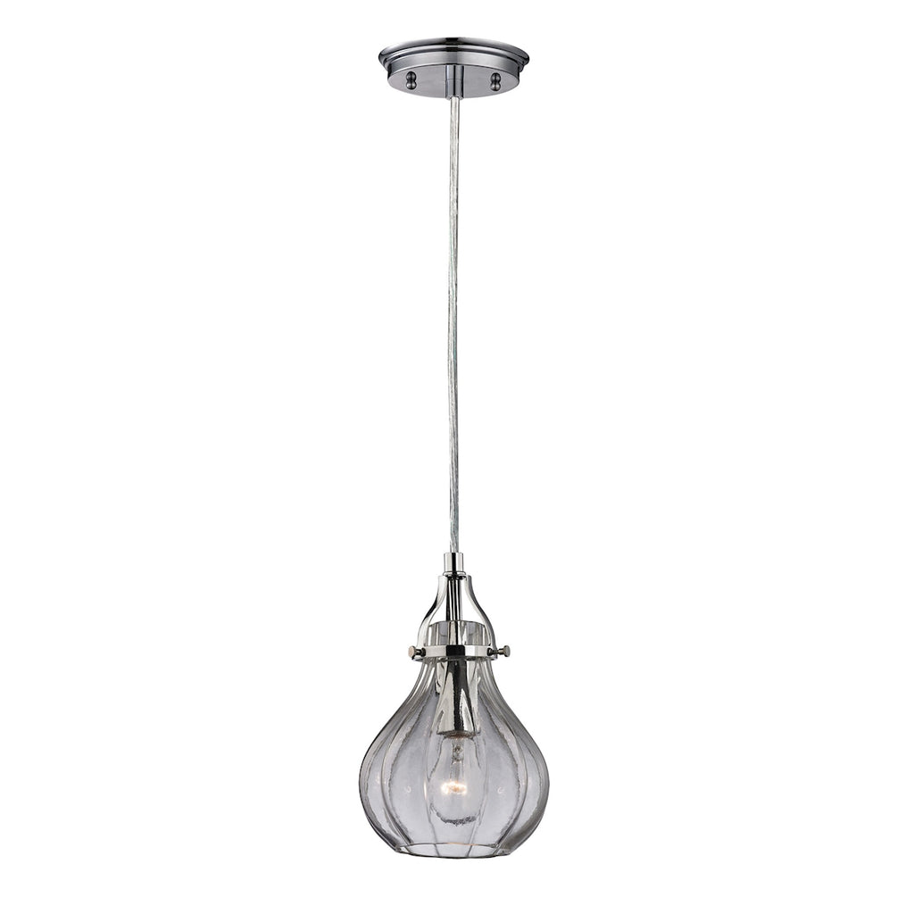 Danica 1-Light Mini Pendant in Polished Chrome with Clear Glass