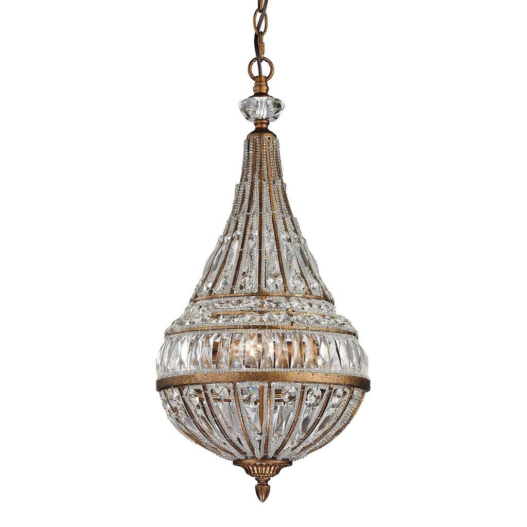 Empire Collection 3 light pendant in Mocha