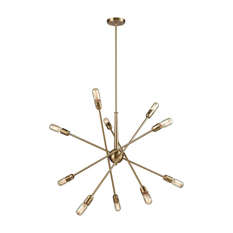 Delphine 10 Chandelier Satin Brass