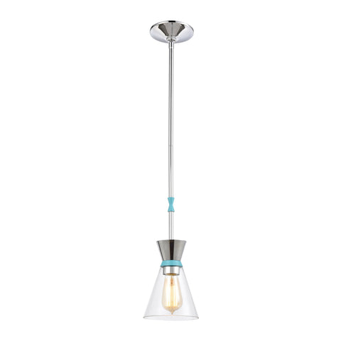 Modley 1-Light Mini Pendant in Polished Chrome with Clear Glass