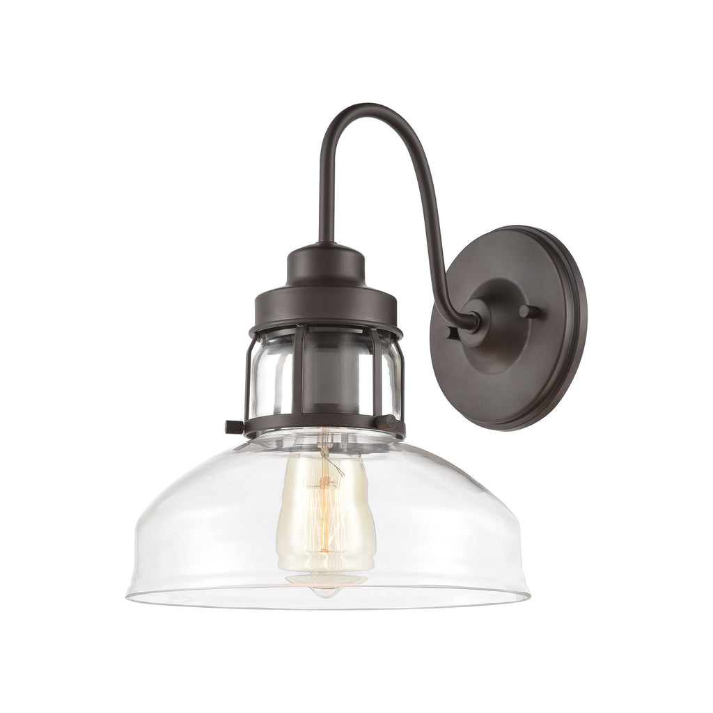 Manhattan Boutique 1-Light Sconce in Oil Rubbed Bronze with Clear Glass