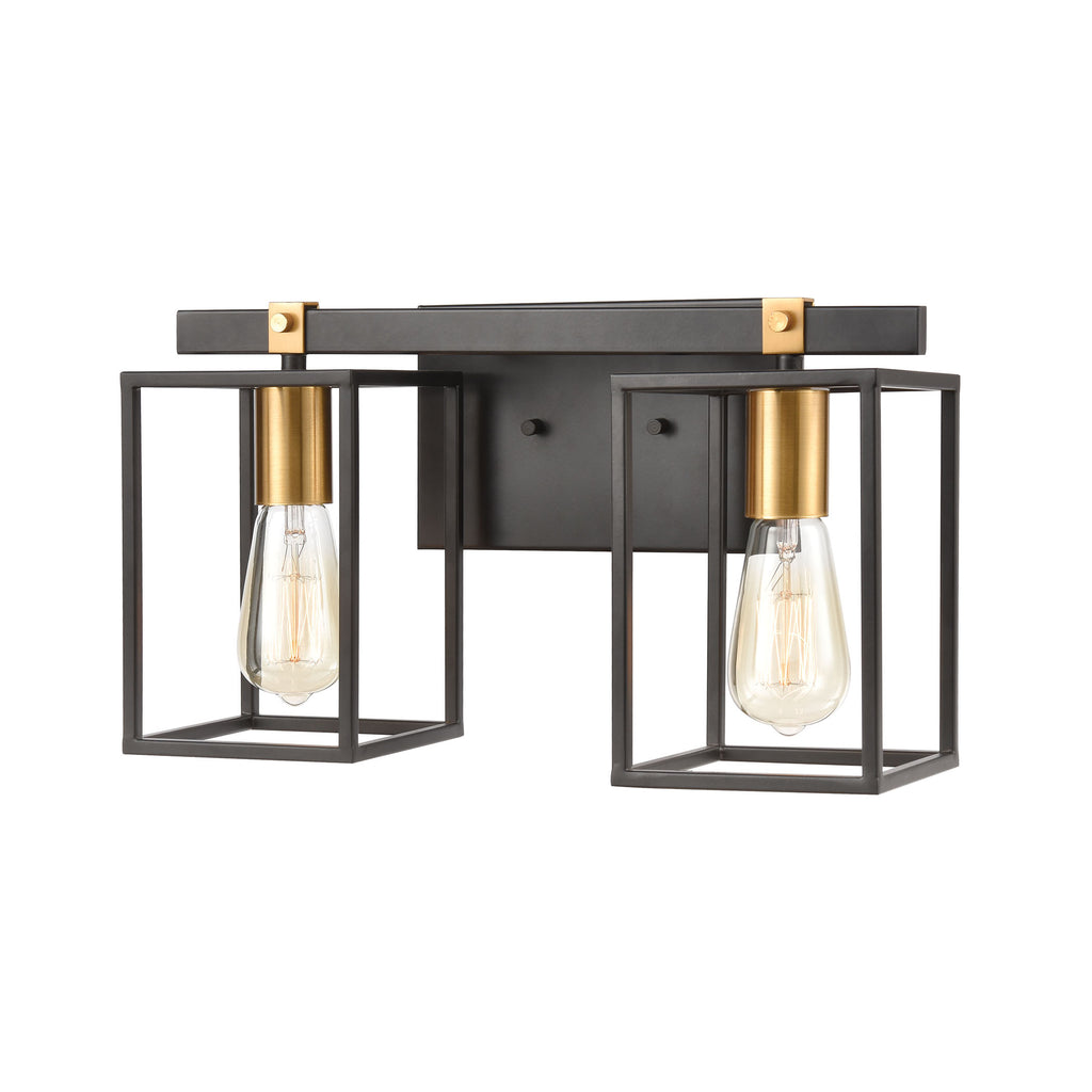 Cloe 2-Light Vanity Light in Matte Black