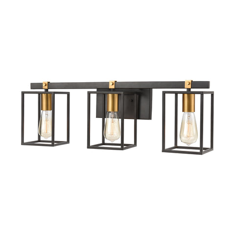 Cloe 3-Light Vanity Light in Matte Black