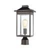 Lamplighter 1-Light Post Mount in Matte Black with Seedy Glass