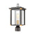 Vincentown 1-Light Post Mount in Matte Black with Seedy Glass