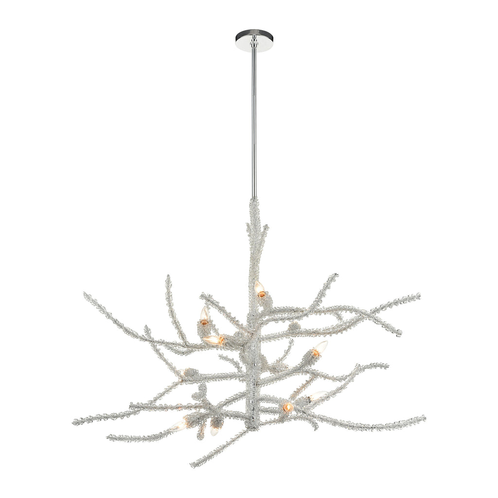 Winter's Spray 12-Light Chandelier in Polished Chrome