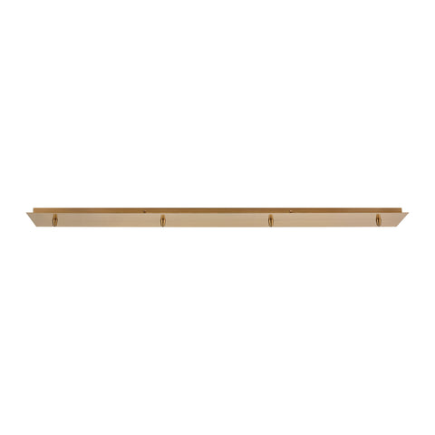 Pendant Options 4-Hole Linear Pan for Pendants in Satin Brass
