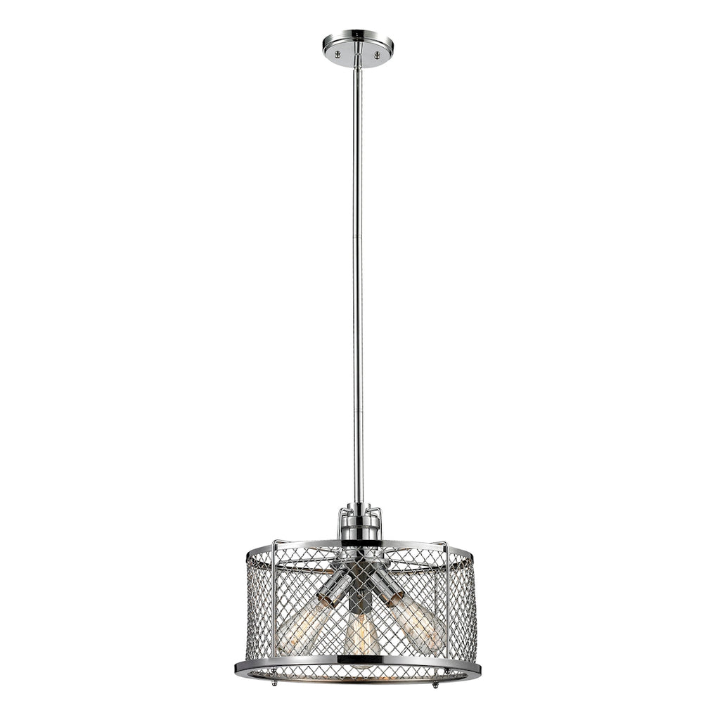 Brisbane Collection 3 light pendant in Polished Chrome