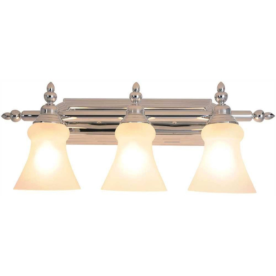 DECORATIVE VANITY FIXTURE, MAXIMUM THREE 100 WATT INCANDESCENT MEDIUM BASE BULBS